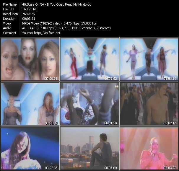 Screenshot of Music Video Stars On 54 - If You Could Read My Mind