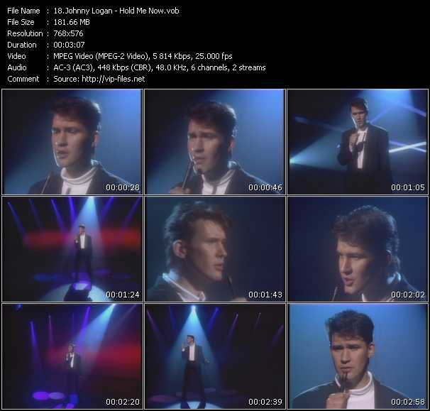 Screenshot of Music Video Johnny Logan - Hold Me Now