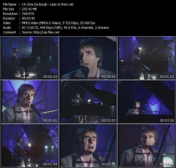 Screenshot of Music Video Chris De Burgh - Lady In Red
