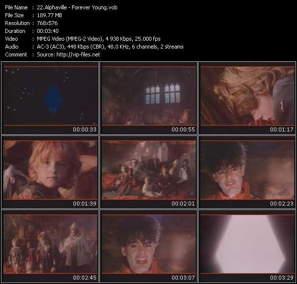 Screenshot of Music Video Alphaville - Forever Young