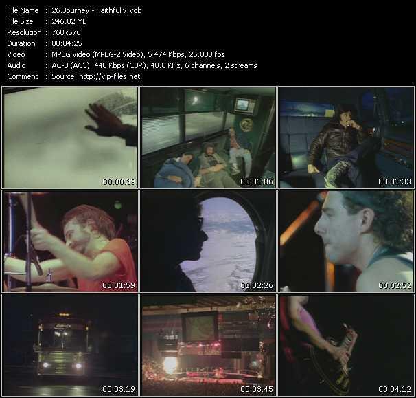 Screenshot of Music Video Journey - Faithfully