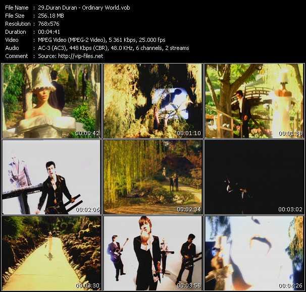 Screenshot of Music Video Duran Duran - Ordinary World