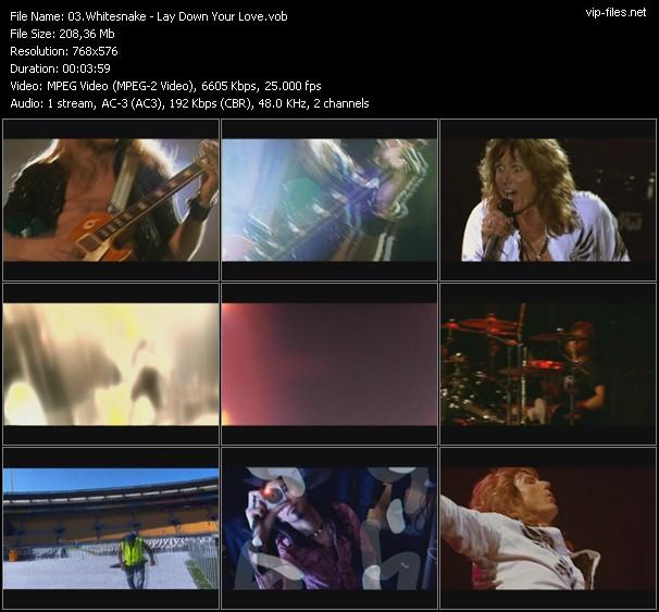 Whitesnake video vob