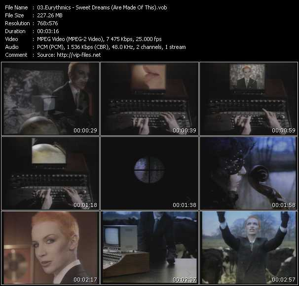 Screenshot of Music Video Eurythmics - Sweet Dreams (Are Made Of This)