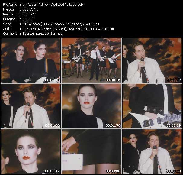 Screenshot of Music Video Robert Palmer - Addicted To Love