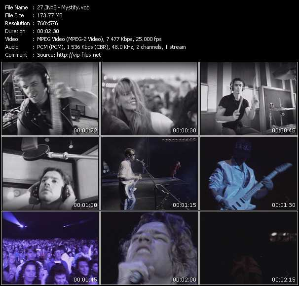 Screenshot of Music Video Inxs - Mystify