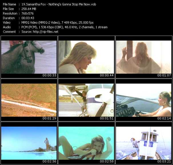 Screenshot of Music Video Samantha Fox - Nothing's Gonna Stop Me Now