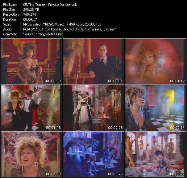 Screenshot of Music Video Tina Turner - Private Dancer