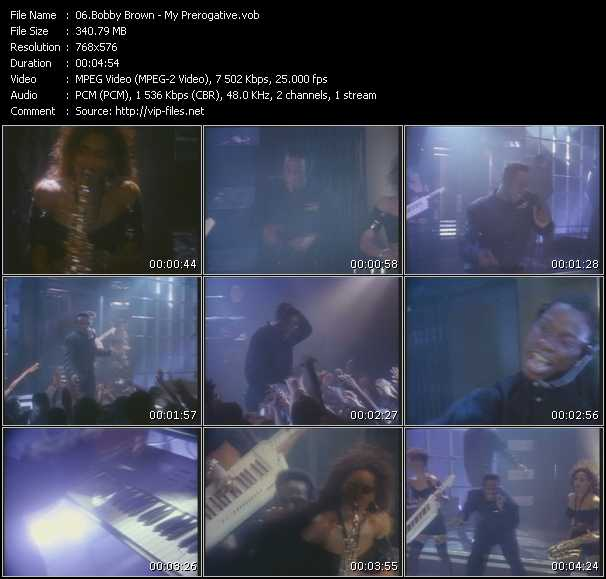 Screenshot of Music Video Bobby Brown - My Prerogative