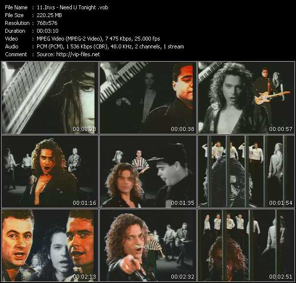 Screenshot of Music Video Inxs - Need U Tonight