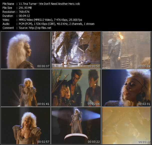 Screenshot of Music Video Tina Turner - We Don't Need Another Hero