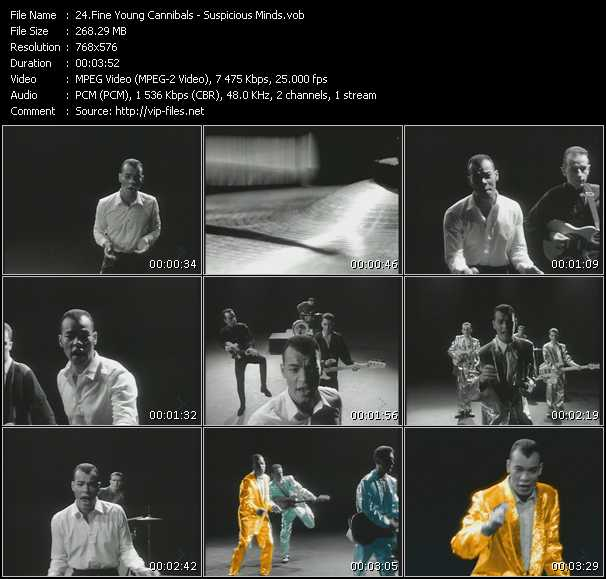 Screenshot of Music Video Fine Young Cannibals - Suspicious Minds