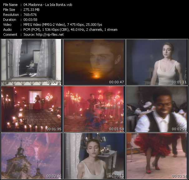 Madonna - La Isla Bonita - Download HQ music Video VOB of