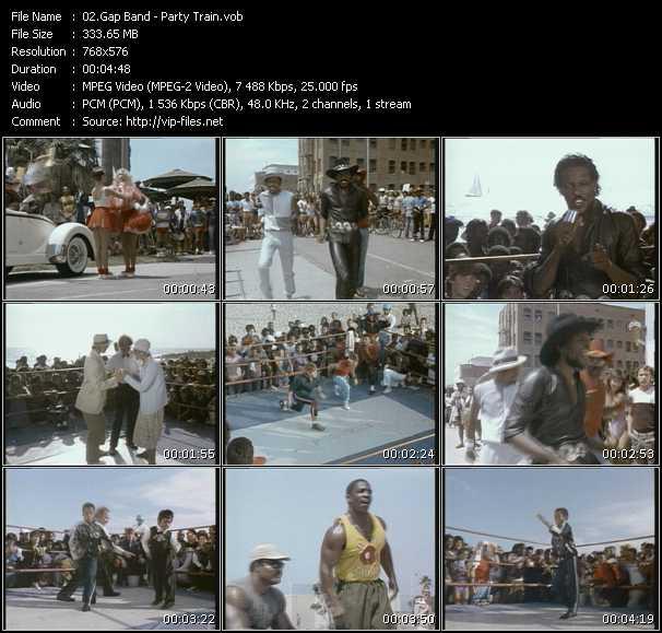 Screenshot of Music Video Gap Band - Party Train