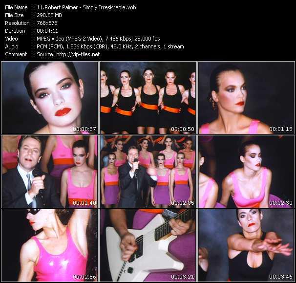 Screenshot of Music Video Robert Palmer - Simply Irresistable