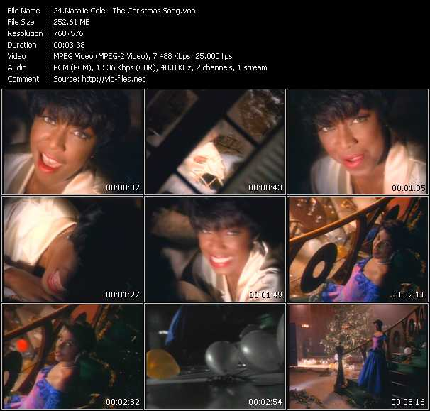 Screenshot of Music Video Natalie Cole - The Christmas Song