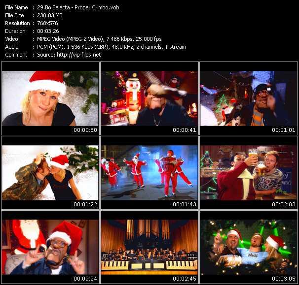Screenshot of Music Video Bo Selecta - Proper Crimbo