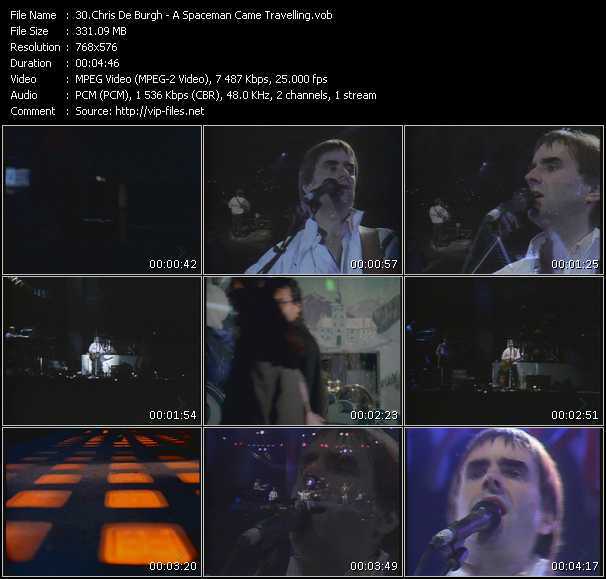 Screenshot of Music Video Chris De Burgh - A Spaceman Came Travelling