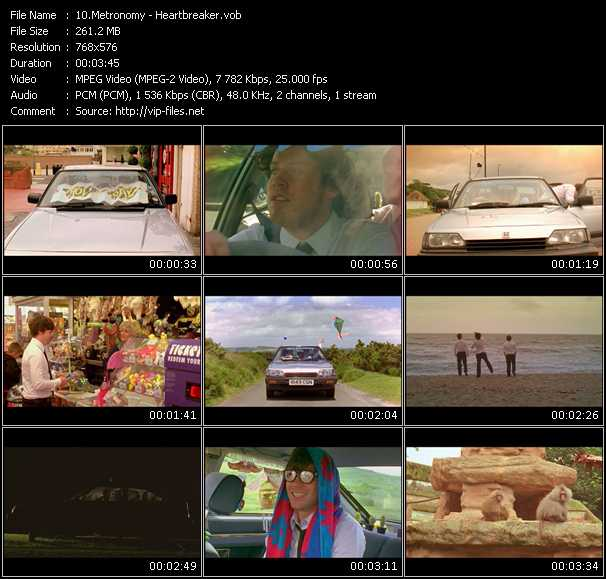 Screenshot of Music Video Metronomy - Heartbreaker