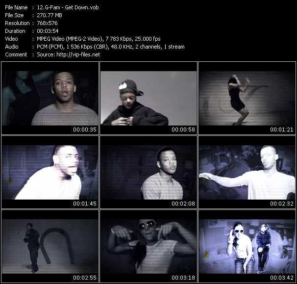 Screenshot of Music Video G-Fam - Get Down