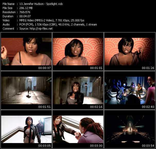Screenshot of Music Video Jennifer Hudson - Spotlight