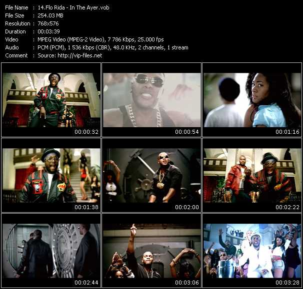 Flo Rida video vob