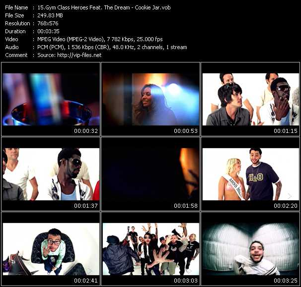 Screenshot of Music Video Gym Class Heroes Feat. The-Dream - Cookie Jar
