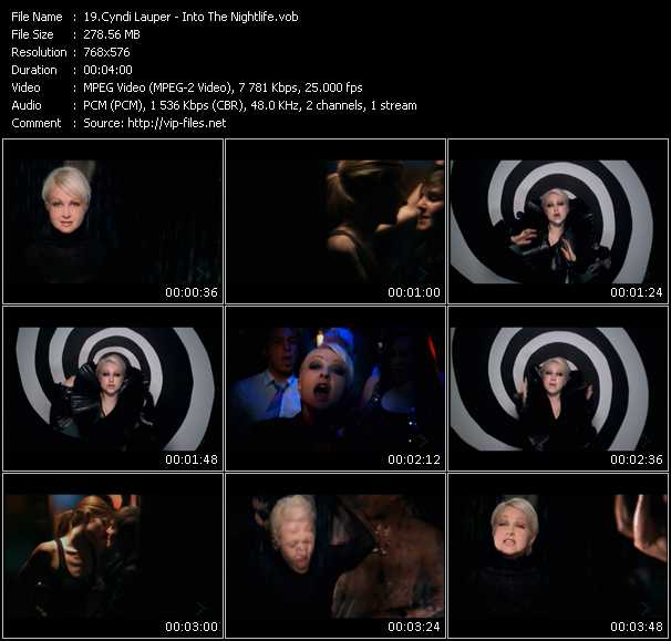Screenshot of Music Video Cyndi Lauper - Into The Nightlife