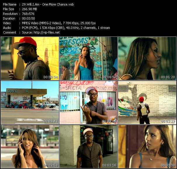Screenshot of Music Video Will.I.Am - One More Chance