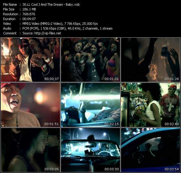 Screenshot of Music Video LL Cool J Feat. The-Dream - Baby