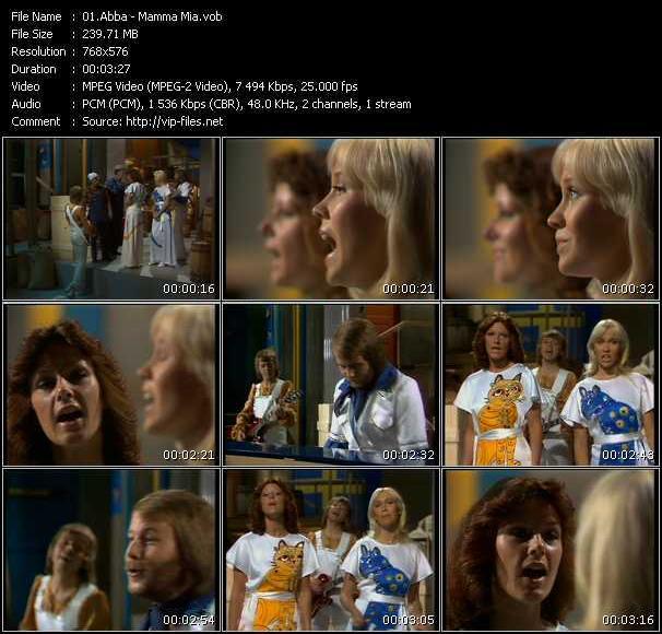 Screenshot of Music Video Abba - Mamma Mia