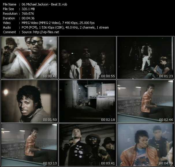 Screenshot of Music Video Michael Jackson - Beat It