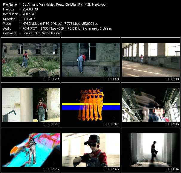 Screenshot of Music Video Armand Van Helden Feat. Christian Rich - Ski Hard