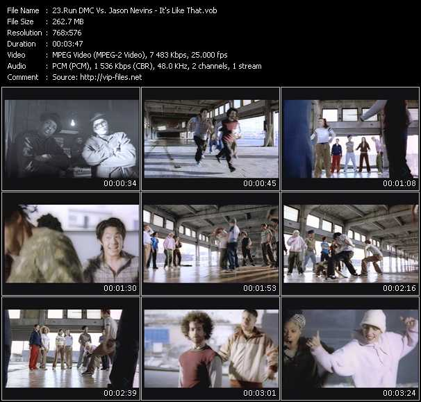 Screenshot of Music Video Run DMC Vs. Jason Nevins - It's Like That