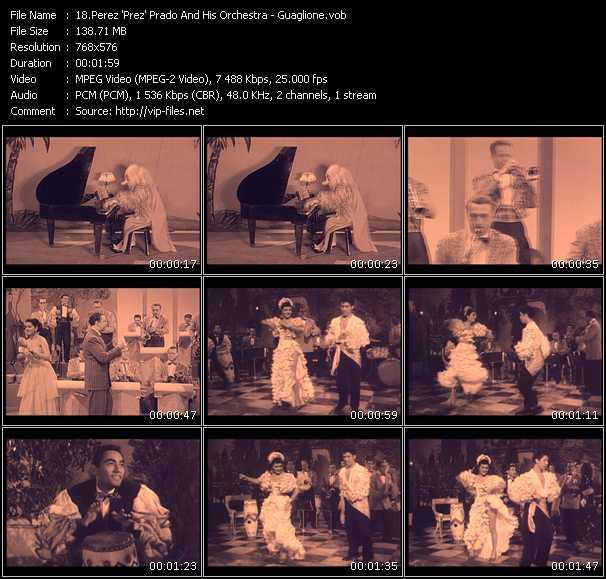 Perez 'Prez' Prado And His Orchestra video vob