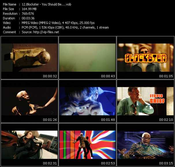 Screenshot of Music Video Blockster - You Should Be...