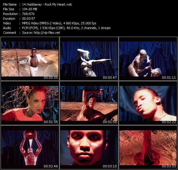 Screenshot of Music Video Haddaway - Rock My Heart