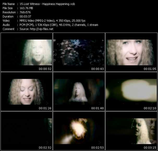 Screenshot of Music Video Lost Witness - Happiness Happening