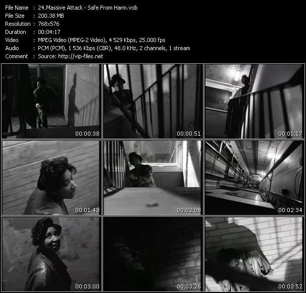 Screenshot of Music Video Massive Attack - Safe From Harm