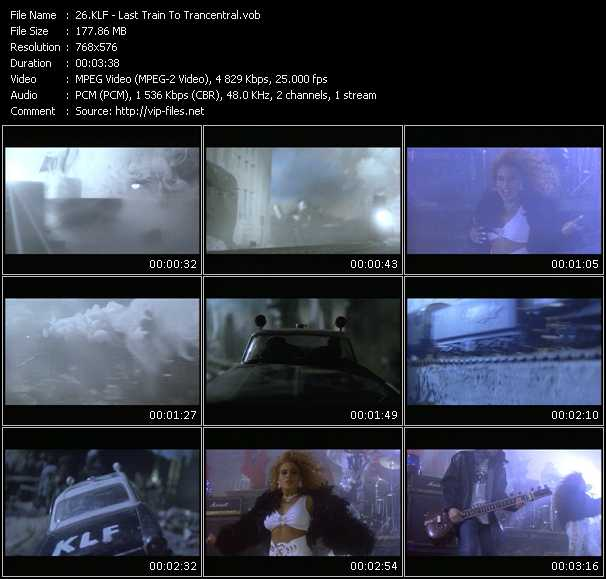 Screenshot of Music Video Klf - Last Train To Trancentral