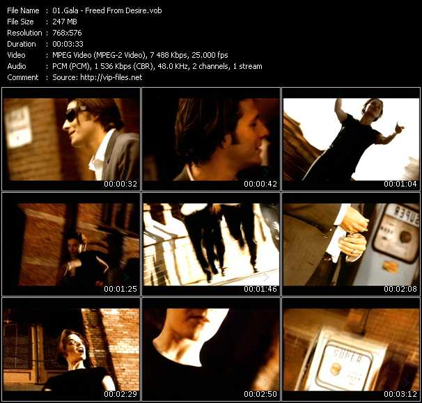 Screenshot of Music Video Gala - Freed From Desire