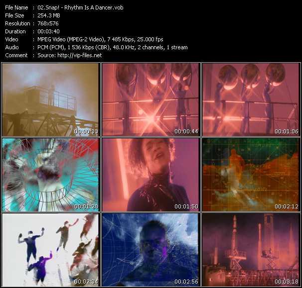 Screenshot of Music Video Snap! - Rhythm Is A Dancer