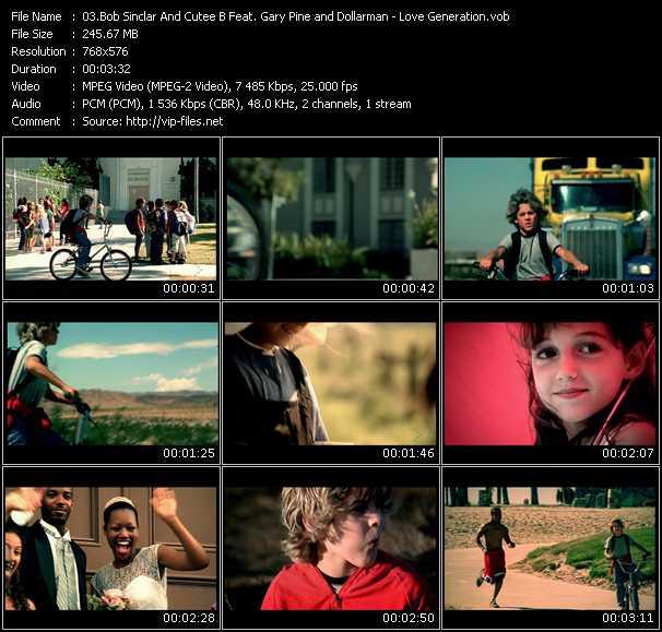 Screenshot of Music Video Bob Sinclar And Cutee B Feat. Gary Pine And Dollarman - Love Generation