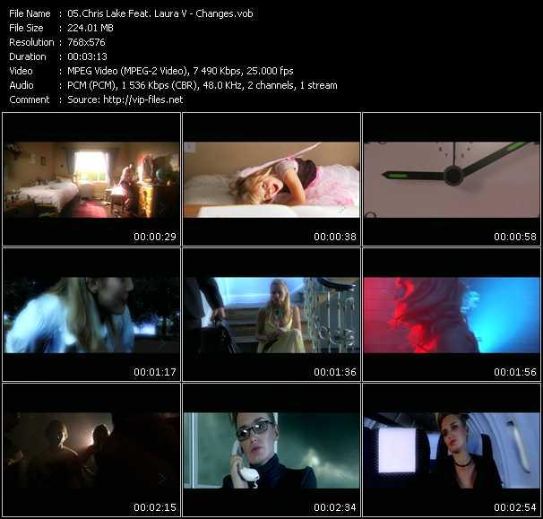 Screenshot of Music Video Chris Lake Feat. Laura V - Changes