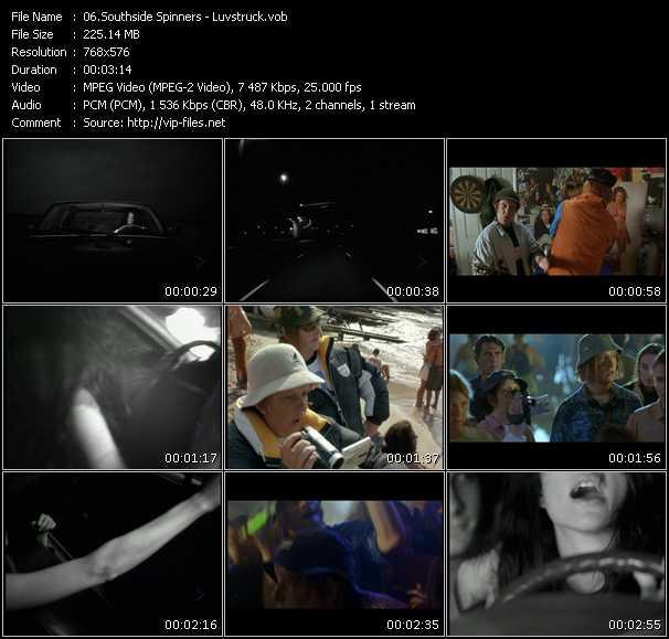 Screenshot of Music Video Southside Spinners - Luvstruck