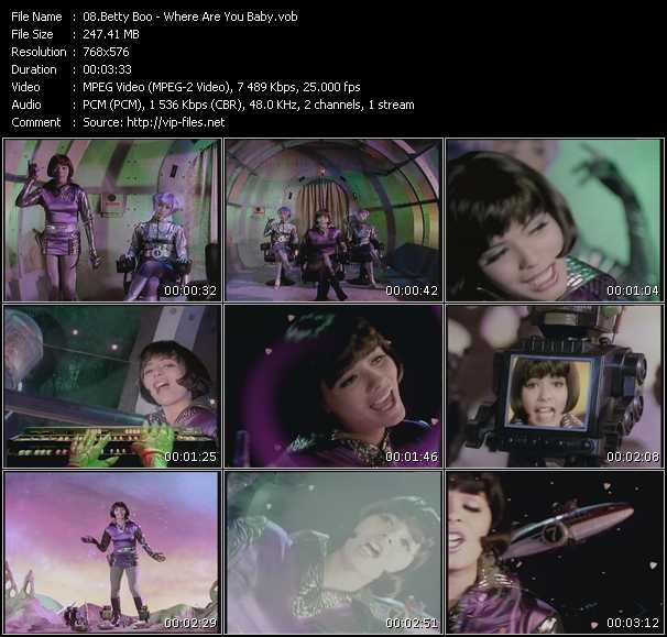 Screenshot of Music Video Betty Boo - Where Are You Baby?