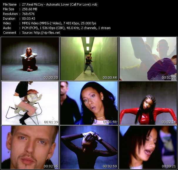 Screenshot of Music Video Real McCoy (Mc Sar And The Real McCoy) - Automatic Lover (Call For Love)