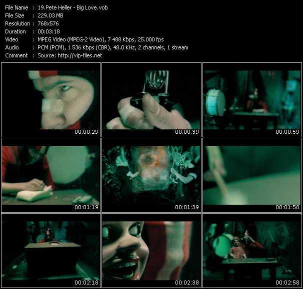 Screenshot of Music Video Pete Heller - Big Love