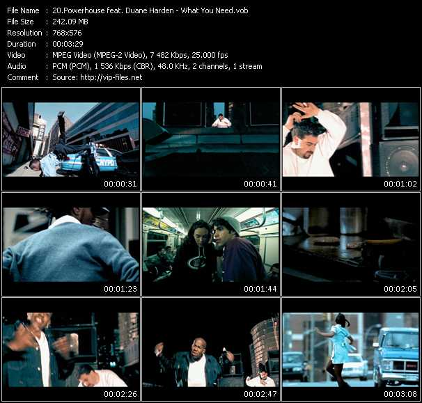 Screenshot of Music Video Powerhouse Feat. Duane Harden - What You Need