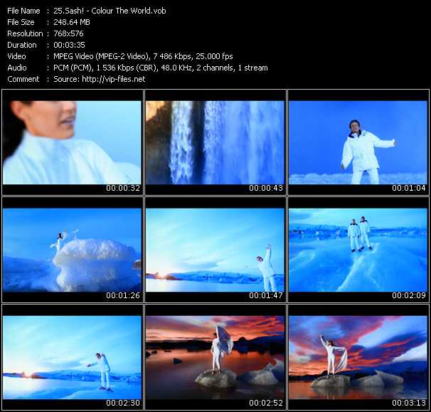 Screenshot of Music Video Sash! - Colour The World